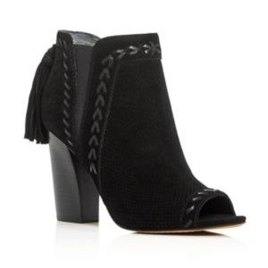 Marc Fisher Ellena Peep Toe Fashion Ankle Boots